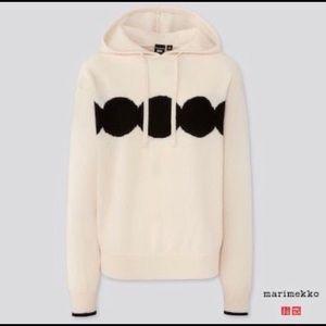 Marimekko x Uniglo cashmere and wool Hoodie NWT